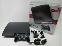 SONY PLAYSTATION 3 PS3 SLIM CECH 2001B 250gb BLACK GAME SYSTEM