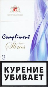 Compliment Super Slims 3 Cigarettes 10 cartons