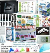 NINTENDO WII CONSOLE+ FIT BUNDLE SPORTS RESORT 4 PLAYER MOTION P