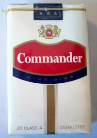 COMMANDER KING SIZE CIGARETTES 10 cartons