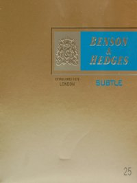 Benson & Hedges 25's SUBTLE Sky Blue cigarettes 10 cartons