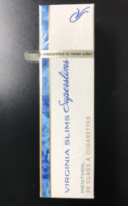 Virginia Slims Superslims Menthol blue pack cigs 10 cartons