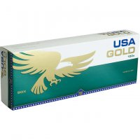 USA Gold Menthol Dark Green 100's cigarettes 10 cartons