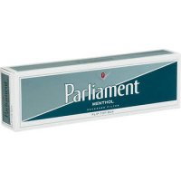 Parliament Menthol Silver Pack Box cigarettes 10 cartons