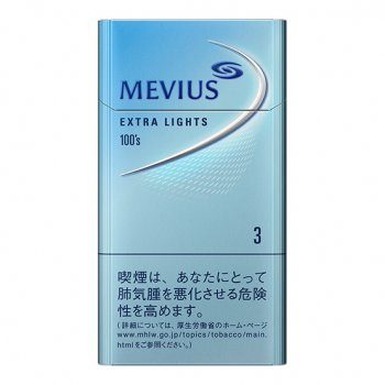 MEVIUS EXTRA LIGHTS 100s BOX cigarettes 10 cartons