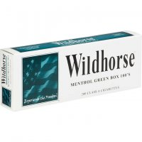 Wildhorse Menthol Green 100's Box Cigarettes 10 cartons