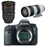 Canon EOS 6D Digital Camera Kit 24-70mm f/2.8L II 70-200mm f/2.8