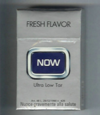 Now Fresh Flavor Ultra Low Tar hard box cigarettes 10 cartons