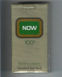 Now 100s Now is Lowest Menthol soft box cigarettes 10 cartons