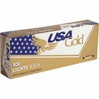 USA Gold lights 100s cigarettes 10 cartons