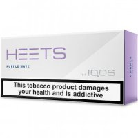 IQOS HEETS PURPLE WAVE label 10 cartons