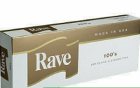 Rave Gold 100's cigarettes 10 cartons