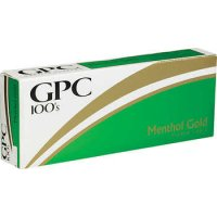 GPC Menthol Gold 100's Soft Pack cigarettes 10 cartons
