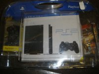 Sony PlayStation 2 Slim Black Console SCPH-77001CB Bundle