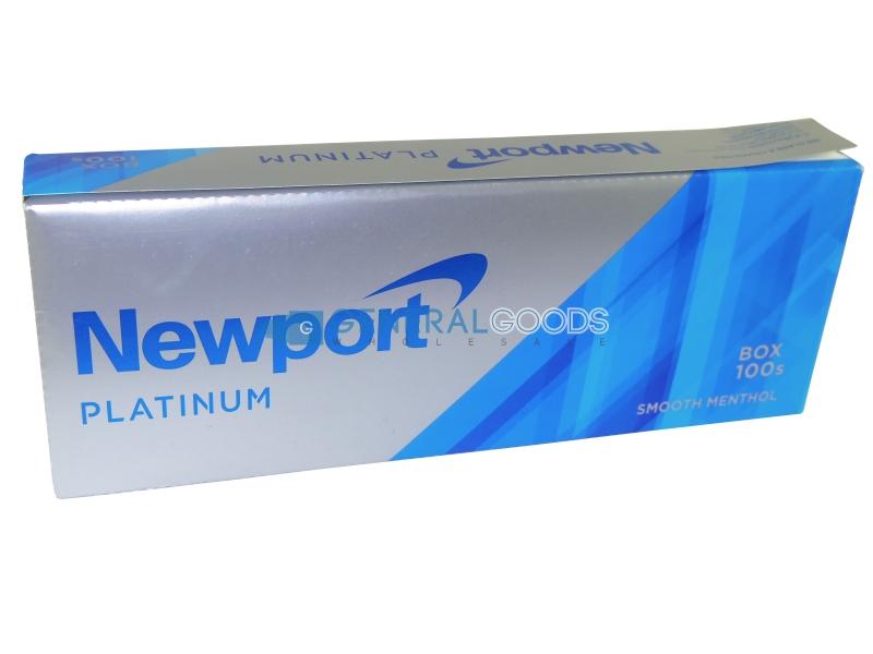 Newport Platinum Menthol 100's Box Cigarettes 10 cartons