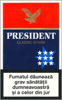 President Classic Stars Cigarettes 100 cartons