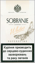 Sobranie Super Slims Whites 100's Cigarettes 10 cartons