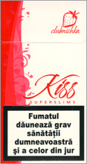 Kiss Super Slims Clubnichka 100's Cigarettes 10 cartons
