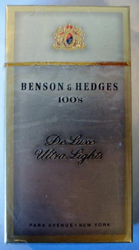 Benson & Hedges 100's DeLuxe Ultra Lights cigarettes 10