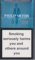 PHILIP MORRIS NOVEL SILVER cigarettes 10 cartons
