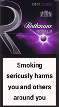 ROTHMANS ROYALS DEMI CLICK PURPLE cigarettes 10 cartons