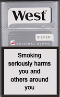 WEST SILVER cigarettes 10 cartons