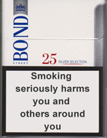 BOND STREET SILVER SELECTION 25 cigarettes 10 cartons