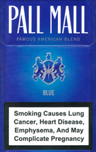 Pall Mall Blue (Lights) Cigarettes 10 cartons