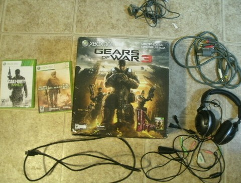 Microsoft Xbox 360 Slim 320gb Gears Of War 3 Accessories Microsoft