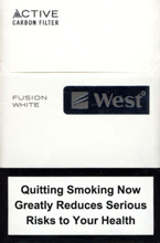 WEST FUSION WHITE cigarettes 10 cartons